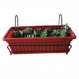 metal flower box holder